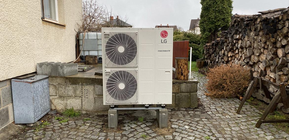 Ukázka instalace tepelného čerpadla LG